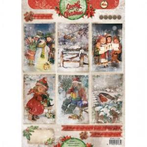 STAPLC1333 STUDIOLIGHT A4 1 ark Lovely Christmas-0