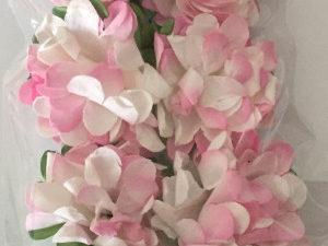 AF025 Dixi Craft Blomster, hvid/lyserød-0