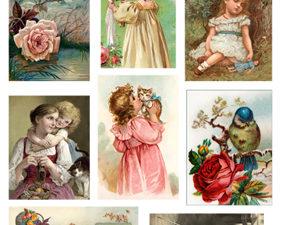 301109 Quickies 3D 1 ark vintage børn-0