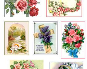 301120 Quickies 3D 1 ark Vintage Blomster-0