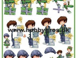 3DHM0047 MARIANNE DESIGN 3D 1 ark Børn med Gave -0