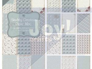 6011/0319 JOY Papirsblok 15x30 Shabby Christmas-0