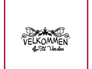"""67161 Felicita Design Stempel, Dansk tekst """"Velkommen til verden""""-0"""