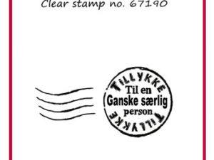 67190 Felicita Design Dansk tekst stempel -0