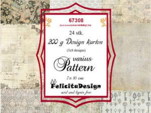 67308 Felicita Design Toppers 7 x 10 cm Varius Pattern-0