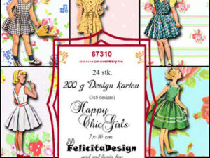 67310 Felicita Design Toppers 7 x 10 cm Happy Chic Girls-0