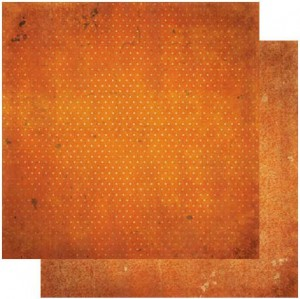 12BOV814 BOBUNNY Scrapbooking ark 30 ×30 cm, Burnt Orange Vintage-0