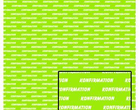 572 Castello papir Tekst 1 ark konfirmation på lime baggrund-0