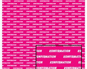 574 Castello papir Tekst 1 ark konfirmation på pink baggrund-1354