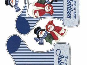 2280 Matori Design 3D 1 ark Store julesokker med snemand og hans kone-0