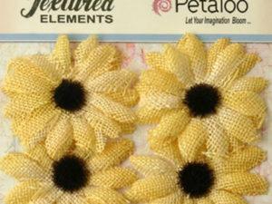 378 Petaloo, stofblomster, gul -0