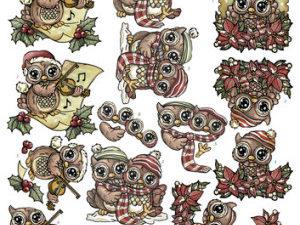 SB10056 Yvonne Design 3D 1 ark udstanset Cozy Christmas-0