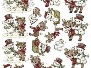 SB10058 Yvonne Design 3D 1 ark udstanset Cozy Christmas-0
