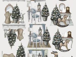 SB10052 Amy Design 3D 1 ark Brocante Christmas vinterstemning-0