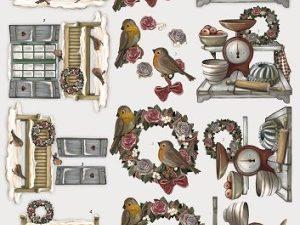 SB10054 Amy Design 3D 1 ark udstanset Brocante Christmas julemotiver-0