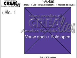 2335 CREAlies Die X-tra 1 5,8 x 5,8 cm (4-kant), No 1-0