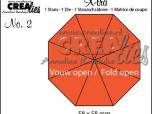2336 CREAlies Die X-tra 2 5,8 x 5,8 cm (8-kant), No 2-0