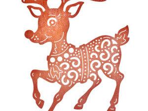 B632 Cheery Lynn Die Reindeer Fun-0