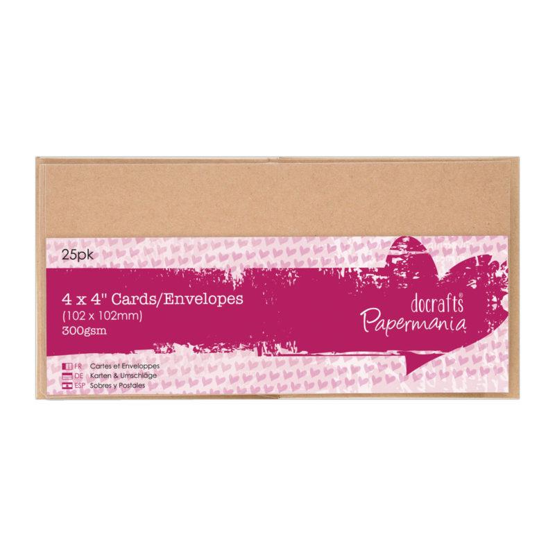 PMA151605 Docraft Papermania kortpakning 10x10 kraft/kvist karton-0