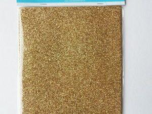 CA3121 MARIANNE DESIGN Glitter papir Guld A5-0