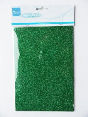 CA3124 MARIANNE DESIGN Glitter papir Grøn A5-0