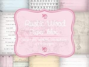 6011/0085 JOY Papirsblok A5 Rustic Wood-0