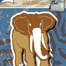 6002/0477 JOY Die Cut/emb/deb Wild African Olifant-0