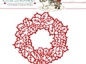 YCD10035 Yvonne Creations Die Cozy Christmas Wreath-0