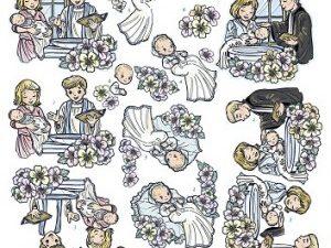SB10030 Yvonne Design 3D 1 ark udstanset barnedåb-0