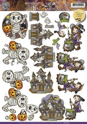 CD10560 Yvonne Design 3D 1 ark Halloween-0