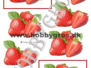 066514 Lene Design 3D 1 ark jordbær -0