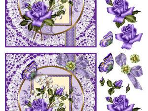 067336 BARTO DESIGN 3D 1 ark blomst og sommerfugl-0