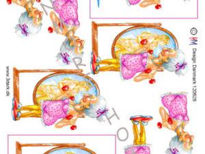 120628 HM Design 3D 1 ark ældre dame med håndvægte-0