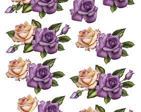 204103 quickies 3d, 1 ark Creme og lilla roser-0