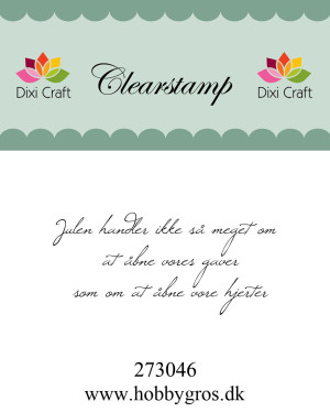 """273046 Dixi Craft Tekst Stempel """"Julen handler ikke så....""""-0"""
