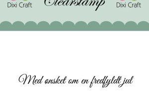 """273053 Dixi Craft Tekst Stempel """"Med ønsket om en....""""-0"""