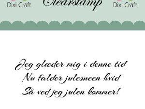 "273055 Dixi Craft Tekst Stempel ""Jeg glæder mig.....""-0"