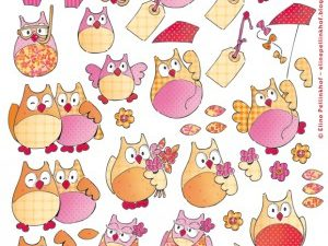 AK0058 Marianne Design 3D 1 ark Elines summer owls 2-0