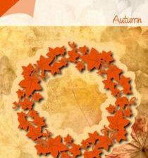 6002/0457 JOY Die cut/emb Autumn Ivy Wreath-0