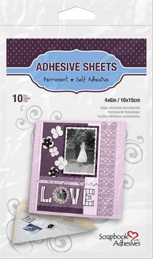 01680 Adhesive Sheets, Selvklæbende ark 10x15cm 10 ark-0