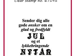 """67195 Felicita Design Clearstamp, """"Sender dig alle ...""""-0"""