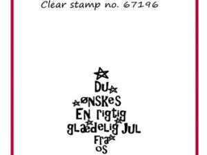 67196 Felicita Design Clearstamp, Du ønskes en rigtig .....-0
