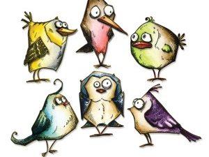 """660954 Sizzix Die Tim Holtz Framelits """"Crazy Bird"""" -0"""