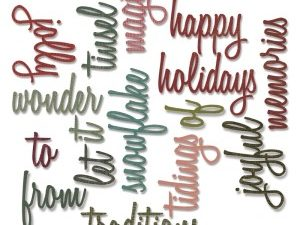 660977 Sizzix Die Tim Holtz Thinlits Happy Holidays-0