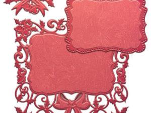 S6-042 Spellbinders Die Holiday Decorative Holly Frame-0
