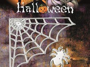 YCD10033 Yvonne Creations Die Halloween edderkop og Spindelvæv-0