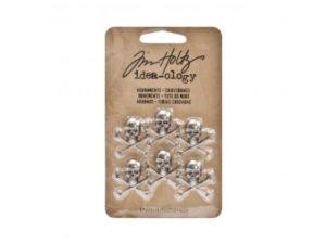 AVTH93089 Tim Holtz Advantus Idea-ology Adornments Crossbones-0