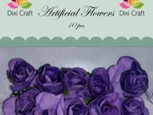292202 DIXI CRAFT blomster lilla 10 stk 2 cm AF002 -0