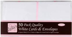 ANT1512020 Anitas Kort & Kuverter 50 sæt 13,5×13,5cm Hvid-0