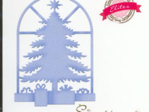 CCE-297 Cottage Cutz Die Christmas Tree in Window-0